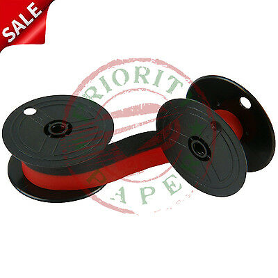 Universal Twin Spool Calculator Ribbons - Black & Red - 12 New  *free Shipping*