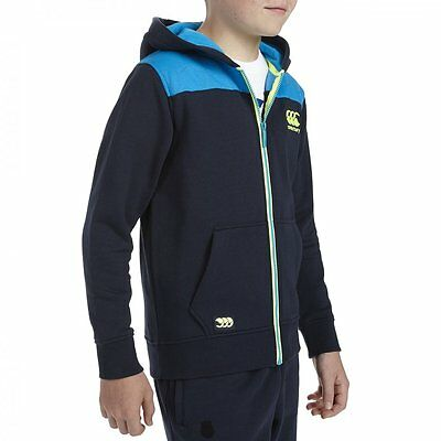 Sweat rugby Full Zipp Hoody canterbury KIDS Bleu / Navy Taille 10 ans XS