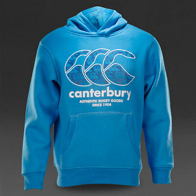 Sweat rugby Hoody Pattern canterbury KIDS bleu  Taille 10 ans XS