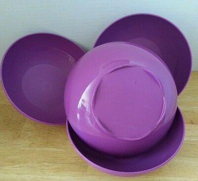 Tupperware RARE Set (4) Open House Floresta Cereal Bowl 3 Cups New