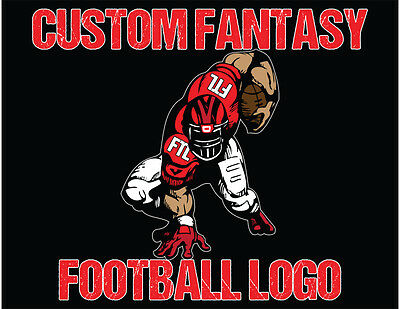 "Fantasy Football Logo Design for your Team or League with Custom 5"" Decal"