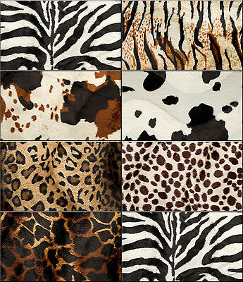 Fellimitat Animal Dekostoff Polsterstoff Stoff Animalprint 150cm Meterware