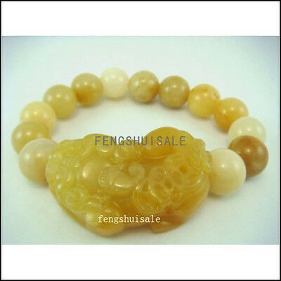 Yellow Jade Pi Yao 10mm Bracelet For Protection-Pi Xiu M1028