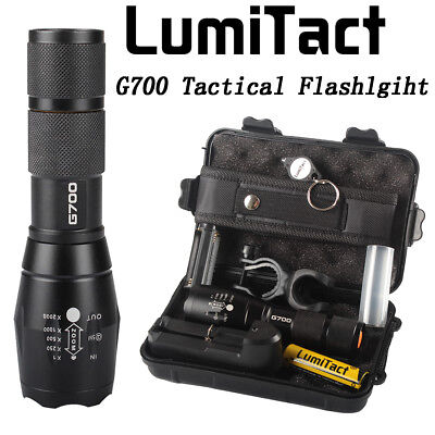 Super 8000lm Genuine Lumitact G700 X800 LED Tactical Flashlight Military Torch