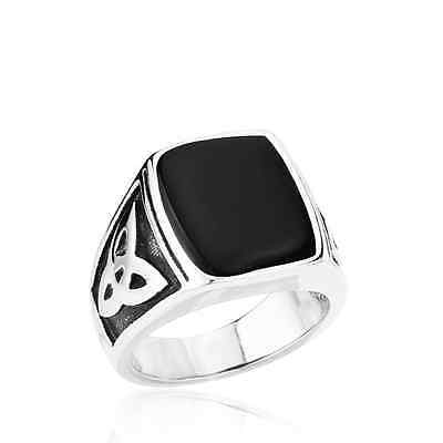Funky Egyptian Style Stainless Steel Ring - NEW
