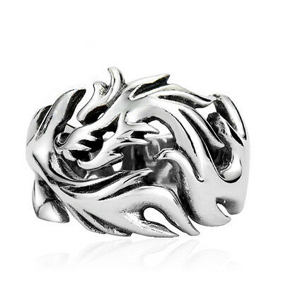Funky Unisex Stainless Steel Dragon Ring - NEW Punk Biker Gothic