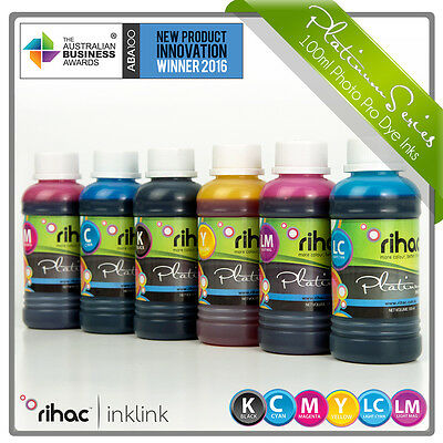 Rihac 6 x 100ml Bottle Ink CISS Continuous ink & REFILL for EPSON XP850 XP950