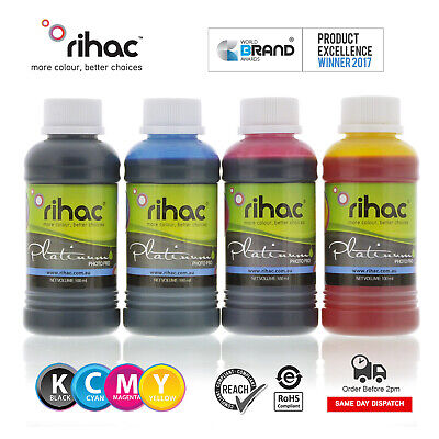Rihac 4 Bottles 100ml REFILL Ink for 4 COLOR Brother LC233 LC235 LC239 cartridge
