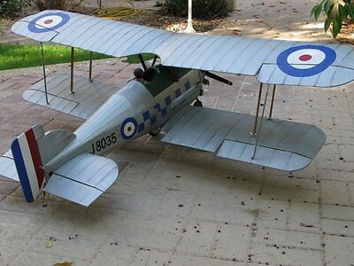 Gloster Gamecock 60 inch WS  Giant Scale RC AIrplane Printed Plans & Templates