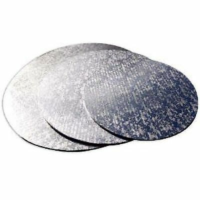 Cake boards round 1.7mm - 2mm thick foil turned edge