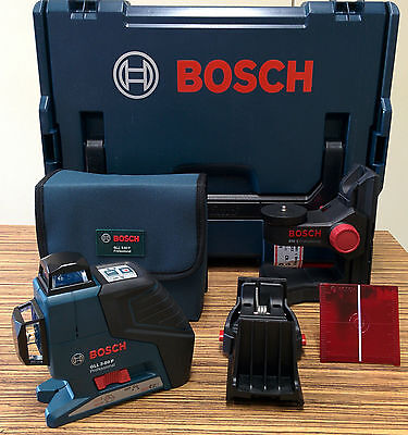 BOSCH Multi Line Laser GLL 3-80 Professional SET with BM1 and more in L-Boxx