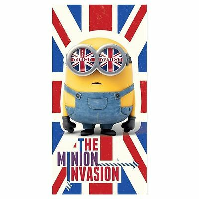 Despicable Me Union Jack KING BOB Minion Invasion Beach Holiday Towel Bath