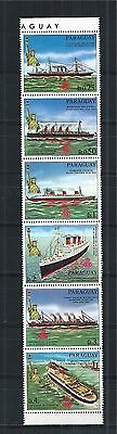 PARAGUAY 1986 STRIP MiNr: 4003 - 4008 ** SHIP NEW YORK