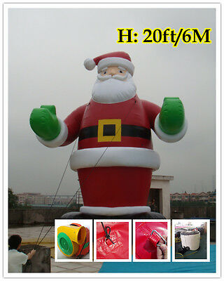 20'ft 6M Inflatable Advertising Promotion Giant Christmas Santa Claus /Air Motor