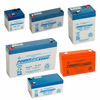 Powersonic 12v / 6v Sealed Lead Acid Rechargeable Battery Leisure, Alarm, Volt
