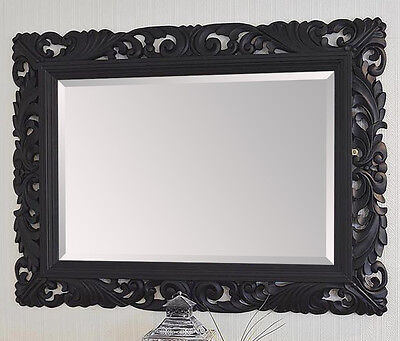 LG Black Ornate Decorative Stunning Mirror - Choice of Colour - Hand Carved