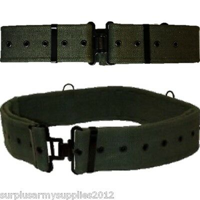 British Army 58 Pattern Belt Replica Extremely Tough Canvas Webbing Hiking Mens