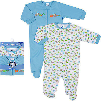 Newborn Essentials Clothes - Baby Boy, from Gerber & Babyvision, blue colors