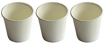 500 x 6oz WHITE Single Wall Coffee Cups 177ml Paper Disposable Party Favors New
