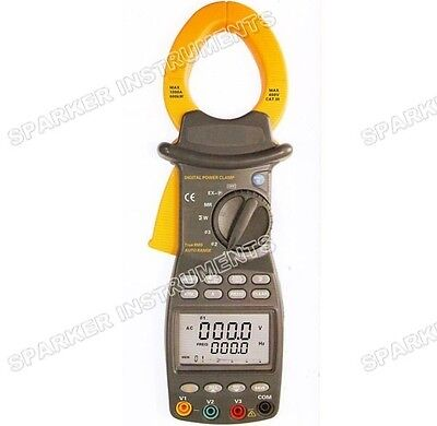 Brand New 3 Three Phase Digital Power Clamp Meter Tester 9999 Counts 20~1000Hz