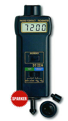 New LUTRON DT-2236 DIGITAL PHOTO/CONTACT TACHOMETER Rotation speed Meter Tester