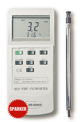 AM-4204H NEW ALUTRON Digital HOT WIRE ANEMOMETER Wind Speed/Air Meter anemograph