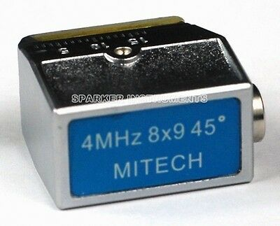 Angle Beam Probe Transducer for Mitech Ultrasonic Flaw Detector(4MHz 8x9)  45º