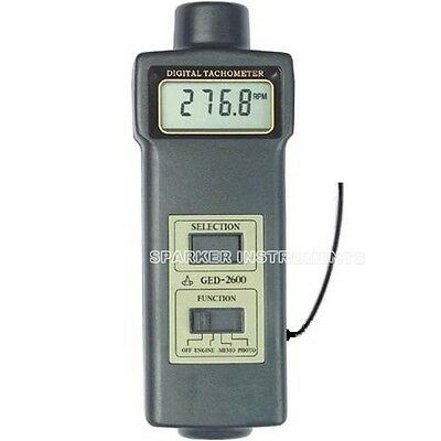 GED2600 NEW Engine Laser Tachometer Motor Machine Automobile Rotate Speed Tester
