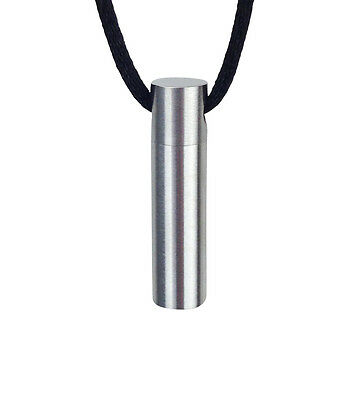 Plain Cylinder Urn Pendant - Memorial Ash Keepsake - Cremation Jewellery