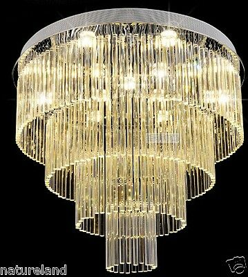 crystal chandelier LED light lamp hang hall Ceiling Fixture Curtain Pendant 4y