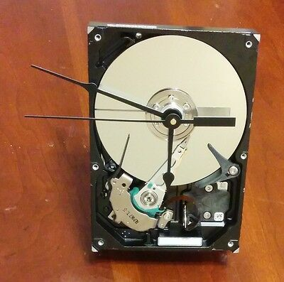 One of a Kind Clock Made From A Recycled Computer Hard Drive