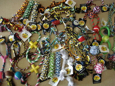 QUALITY CHEAP assorted rope toys x100          RRP £300
