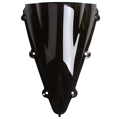 Black Windshield Screen For 2004 2005 2006 YAMAHA YZF-R1 YZF 1000 Double Bubble