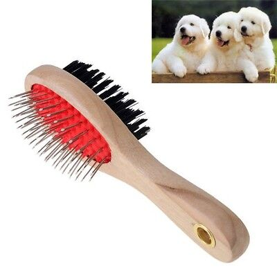 Double Sided Dog Brush Grooming Brush Combing Dog Cat Pet Hair Fur Groomer