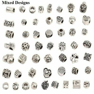 5- 300 Pcs Sterling SILVER Pl Tibetan SPACER CHARM Beads For Bracelets JEWELLERY