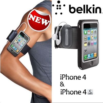iPhone 4 4S Belkin FastFit Sport Armband Case Cover Sleeve Sport Gym Jog Run