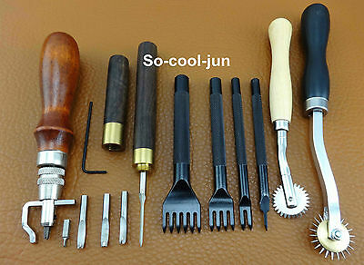 Leder Werkzeug 8pcs Leather Craft Sewing Stitch Tool Set Kit Diamond Awl