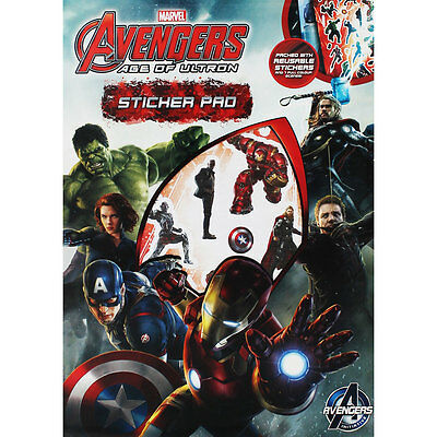 AVENGERS AGE OF ULTRON : MARVEL ; Sticker Pad : WH3 : 816 : NEW