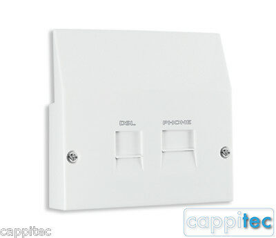 Replacement Lower Front Faceplate Filter With Adsl Broadband Splitter For Nte5