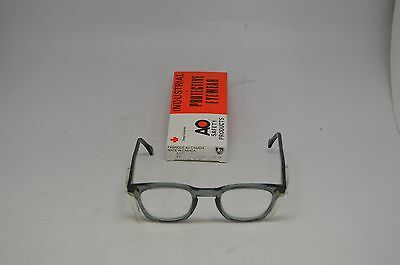 American Optical Grey Safety Glasses 9848 Lens 48, Bridge 24. Steampunk.62805