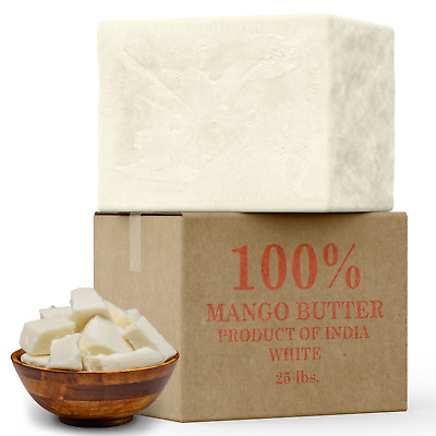 Raw Mango Butter 100% Pure Organic Natural Unrefined 2 oz. - 10 lb. Skin Care