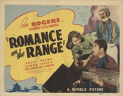 Romance on the Range 1942 Original Movie Poster Comedy Music Western