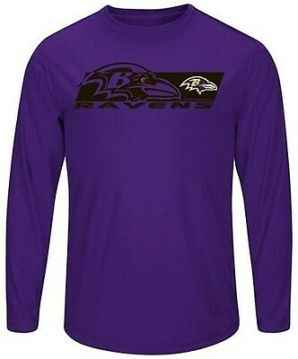 a77128c48 Baltimore Ravens Mens Long Sleeve Synthetic Storm Shirt Purple Big   Tall  Sizes