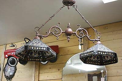 Solid Copper Double Shade Chandelier