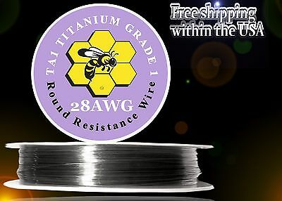 28ga 100ft Titanium Resistance Wire (Gr.1 99.5%) Heats 3x Faster/Lasts 2x Longer
