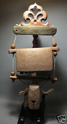 Antique Karen Tribe Elephantine Wooden Cowbell Lasso Buffalo's Neck/ on Stand