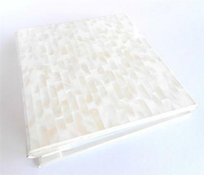 Genuine White Mother of Pearl Wedding Photo Album 5X7 Photo Postbound Expandable