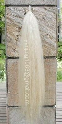 "Brand New Original White Horse Tail Extention 28-30"" 3/8Lb Single Thickness aW2H"