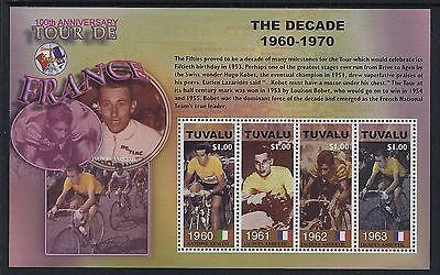 2003 TUVALU 100th ANNIVERSARY OF THE TOUR DE FRANCE SHEETLET FINE MINT MNH/MUH