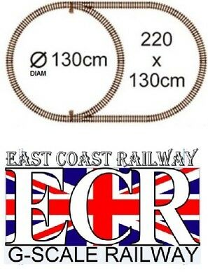 G SCALE RAILWAY RAIL 45mm GAUGE STRONG PLASTIC TRACK FOR GARDEN, COACH TRAIN SET